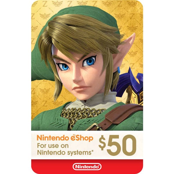 Nintendo eShop $50 Gift Card [Digital]