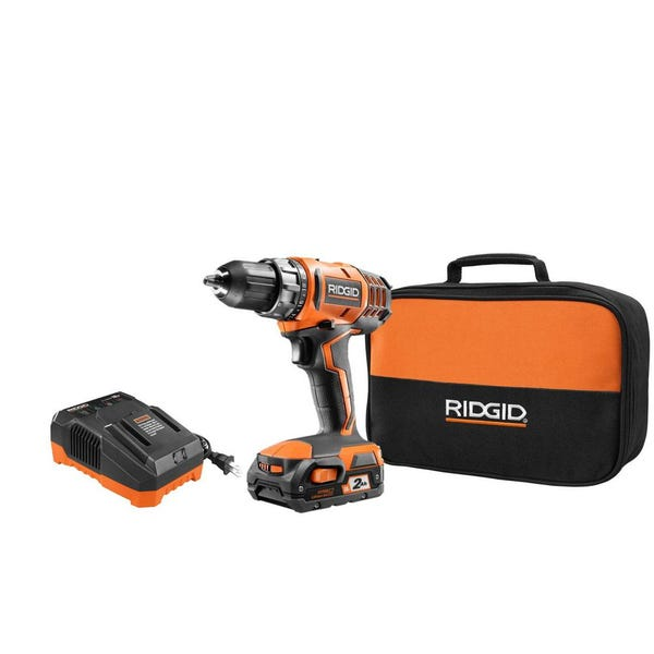 18-Volt Lithium-Ion Cordless 2-Speed 1/2 in. Compact Drill/Driver Kit with 2 Ah Battery, Charger, and Tool Bag