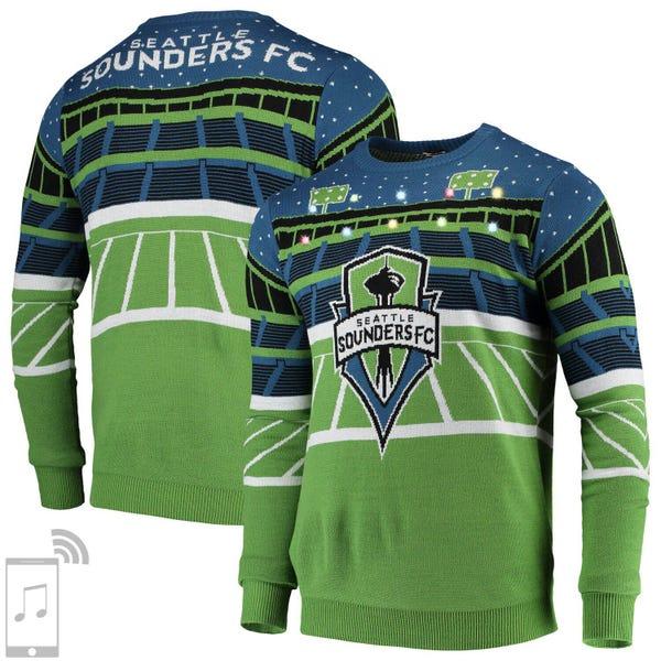 Men's Rave Green Seattle Sounders FC Bluetooth Speaker Sweater