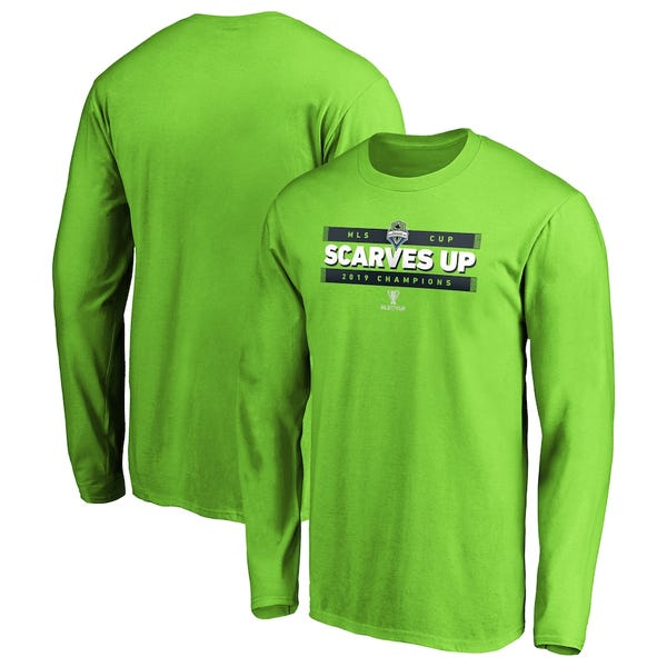 Seattle Sounders FC Green 2019 MLS Cup Champions Primo Long Sleeve T-Shirt