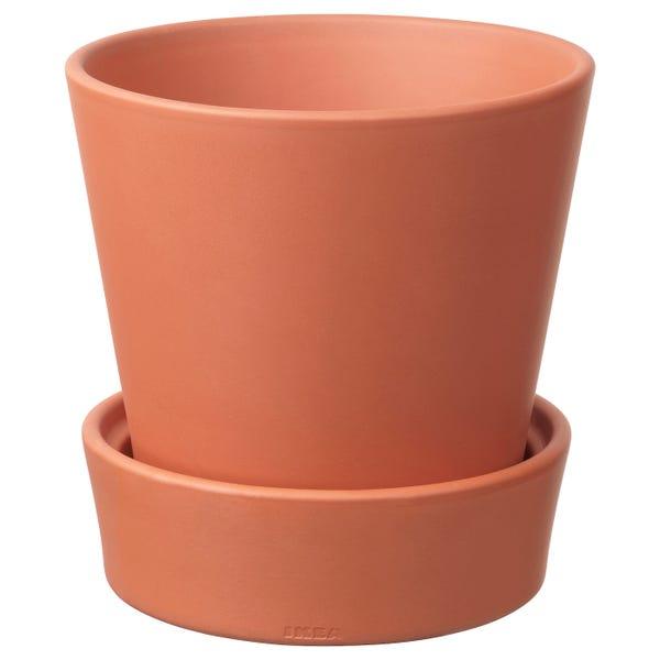 "INGEFÄRA Plant pot with saucer - outdoor/terracotta 6 \"""