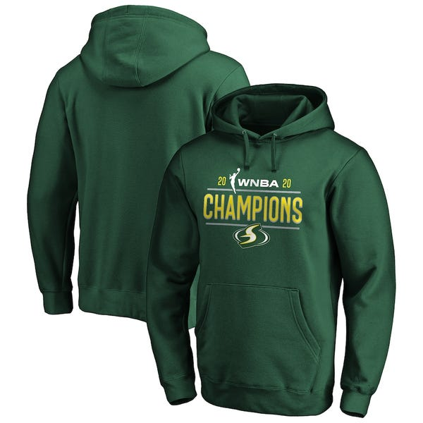 Seattle Storm 2020 WNBA Finals Champions Lock Up Pullover Hoodie