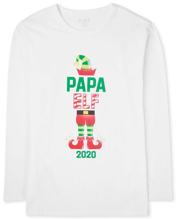Mens Matching Family Christmas Elf Graphic Tee