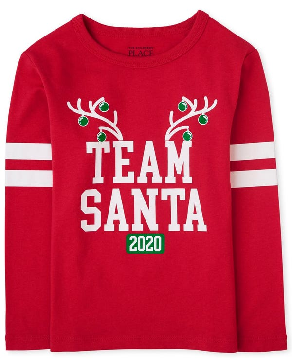 Unisex Baby And Toddler Matching Family Christmas Team Santa Graphic Tee