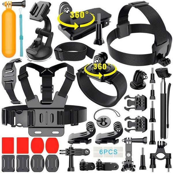 35-In-1 Action Camera Accessory Kit Compatible with GoPro Hero 8 7 6 5 4 3 2