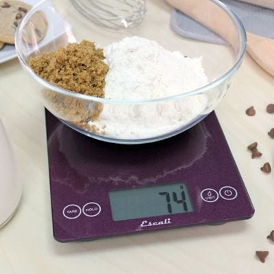 Escali® Arti Metallic Glass Digital Food Scale