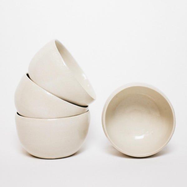 Small ramekin bowl in natural ceramic sandstone, cider bowl, small container, stone tableware, handmade bowl