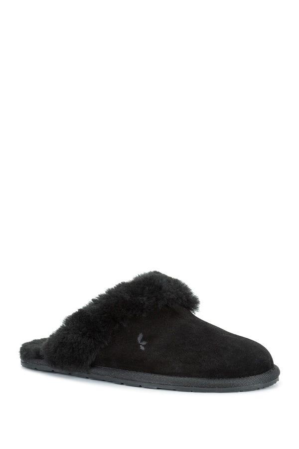 Milo Genuine Shearling & Faux Fur Trimmed Scuff Slipper
