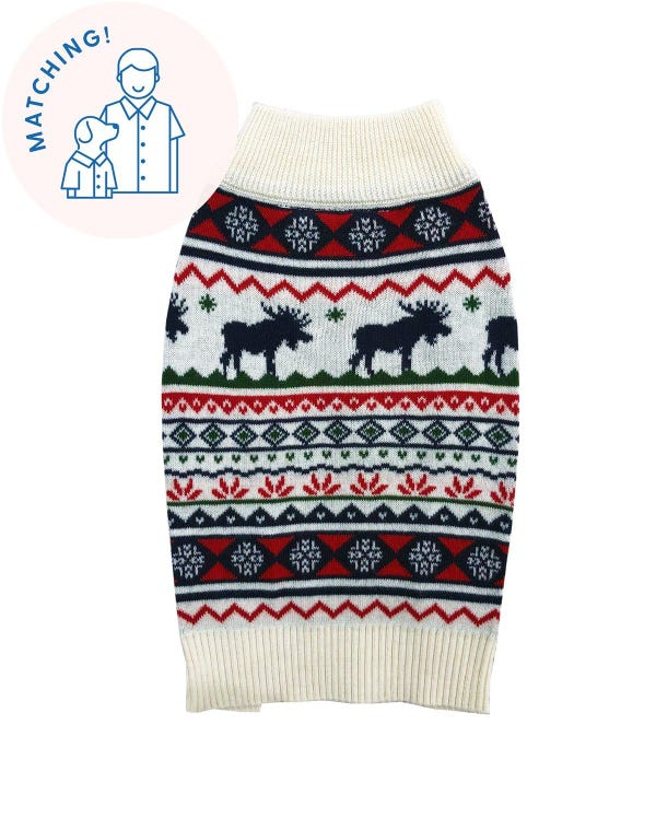 The Great Yukon Sweater - Matching Sizes for Dogs + Humans