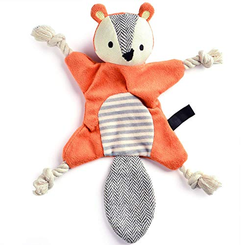 Crinkle Squeaky Dog Chew Toys Squirrel