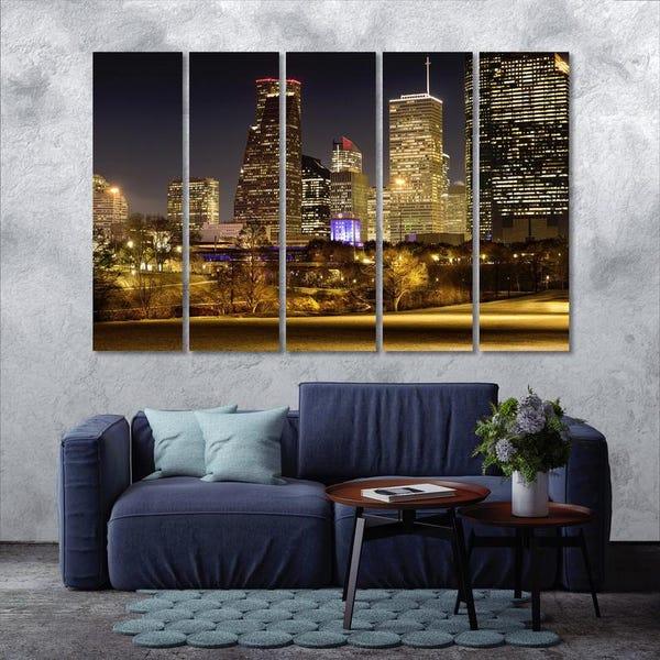 Canvas Set of Houston City