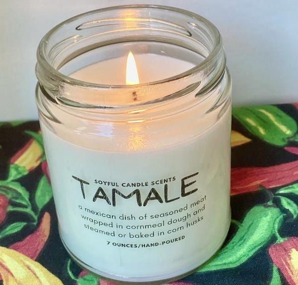 Natural SOY Candle /7 ounces/Tamale scented