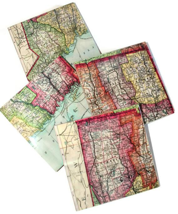 Connecticut Map Coasters