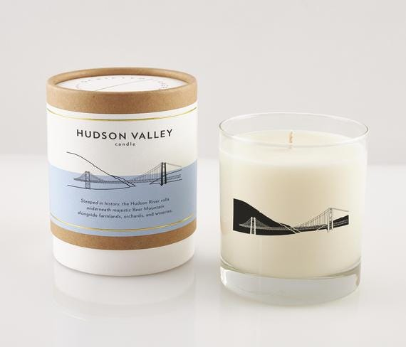 Hudson Valley Soy Candle in Signature Silhouette Glass