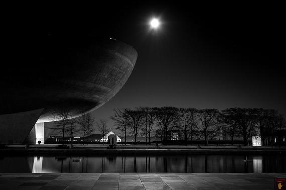 The Egg - black & white photography print - albany ny - moon photography - wall art - EyeWasHere
