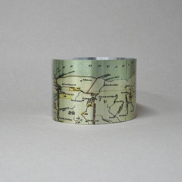 Cuff Bracelet Upstate New York Map