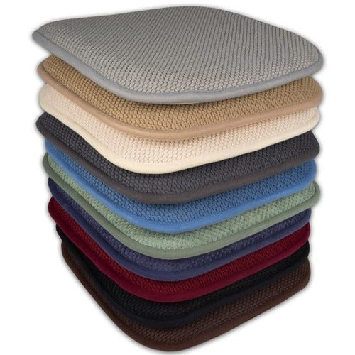 16x16 Memory Foam Chair Pad/Seat Cushion with Non-Slip Backing (2 or 4 Pack) - 16 X 16 [Options : Set of 4]