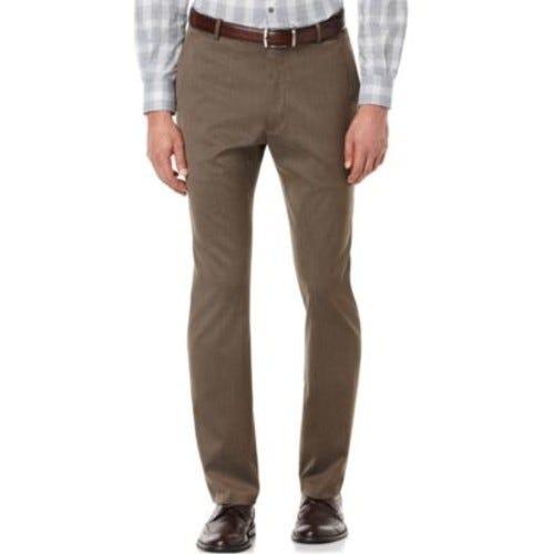 Portfolio Slim Fit Flat Front No-Iron Dress Pants