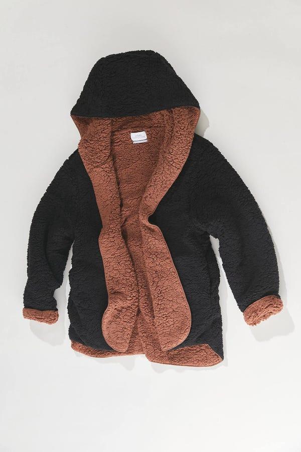 UO Carmella Reversible Hooded Teddy Jacket