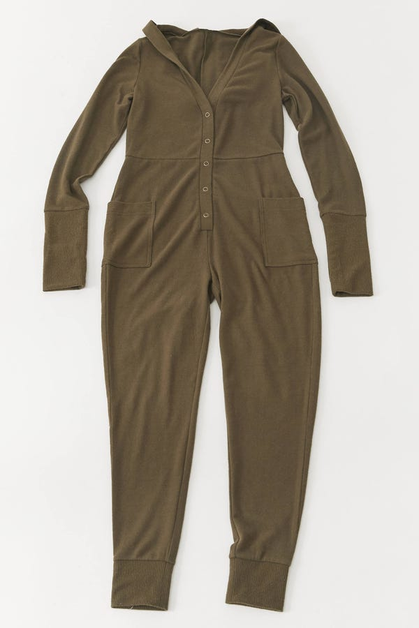 Out From Under Jessa Hooded Lounge Jumpsuit