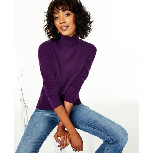 Cashmere Turtleneck Sweater, Created for Macy's