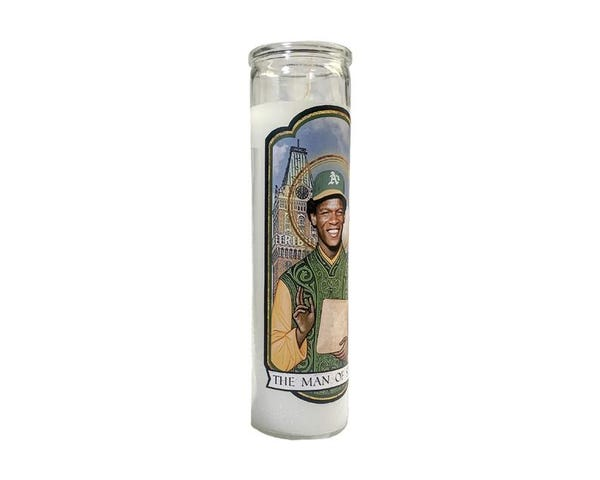 RICKEY HENDERSON Oakland A's The Man of Steal Saint Prayer Candle Gift
