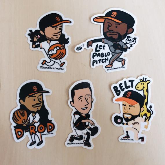 Vinyl SF Baseball Boys Stickers