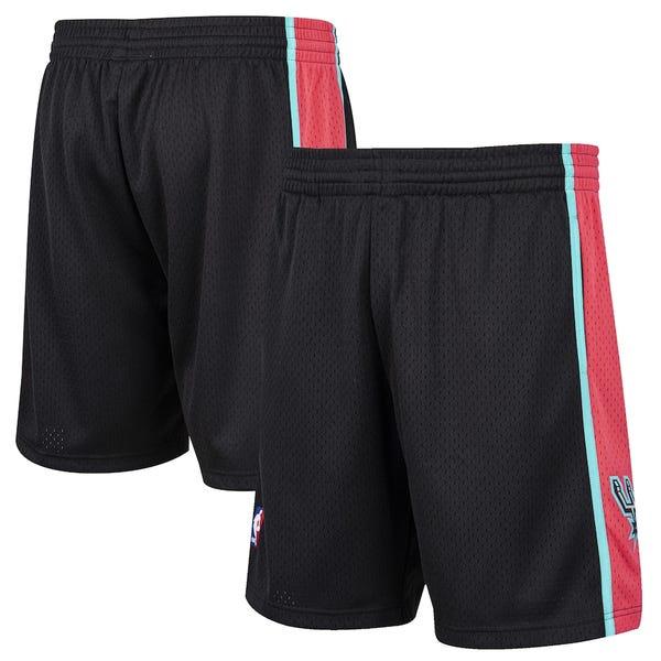 Men's San Antonio Spurs Mitchell & Ness Black Hardwood Classic Reload Swingman Shorts