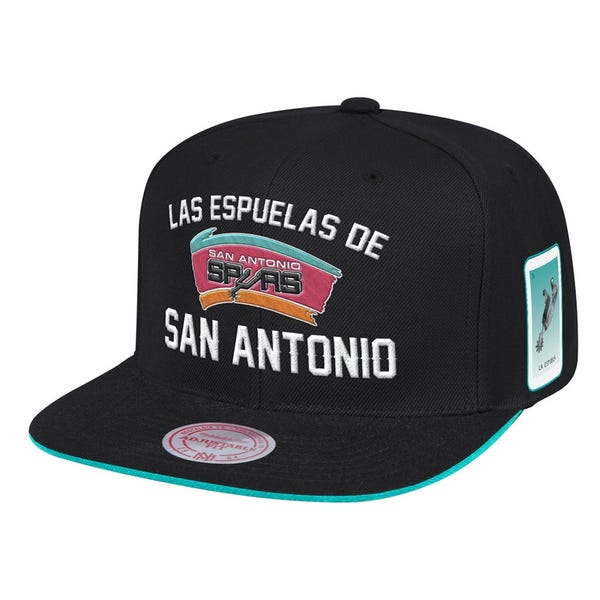 San Antonio Spurs Micthell and Ness Las Espuelas De San Antonio Snap Back Hat