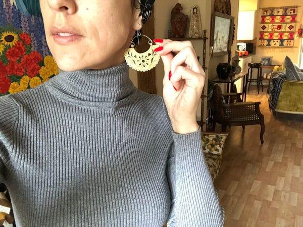 papel picado earrings , metal picado earrings , fiesta jewelry