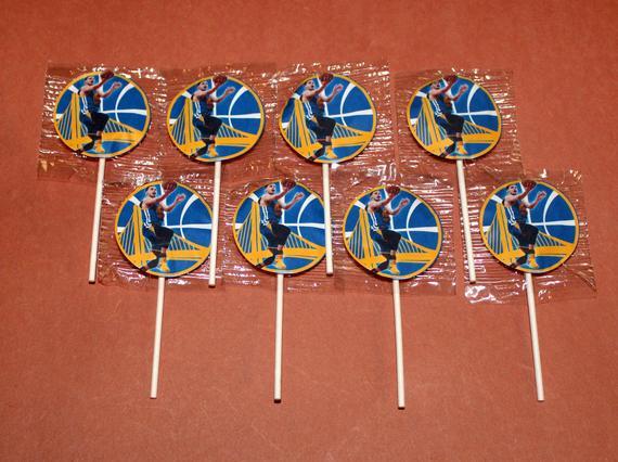 Steph Curry Warriors Lollipops
