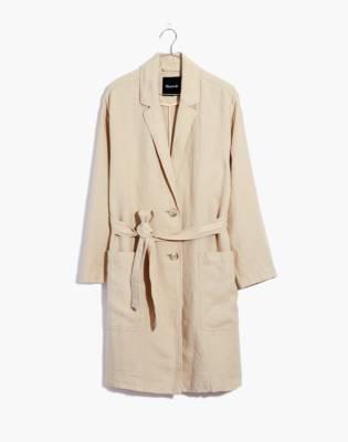 Linen Belted Long Blazer