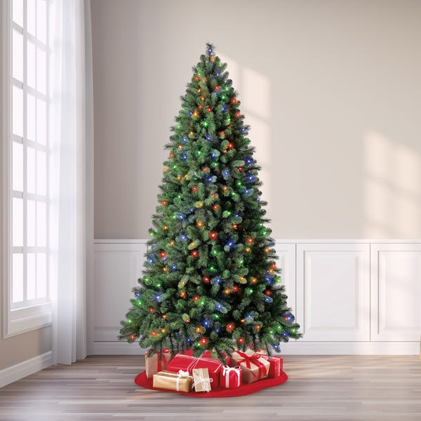 Evergreen Classics® Pre-Lit Norwich Spruce Quick Set® Artificial Christmas Tree, 7.5', Color-Changing Lights