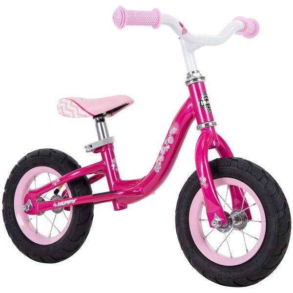 Huffy 10-inch Sea Star Girls' Balance Bike for Kids, Pink
