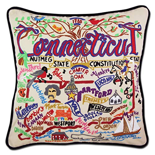 Catstudio Connecticut Embroidered Decorative Throw Pillow