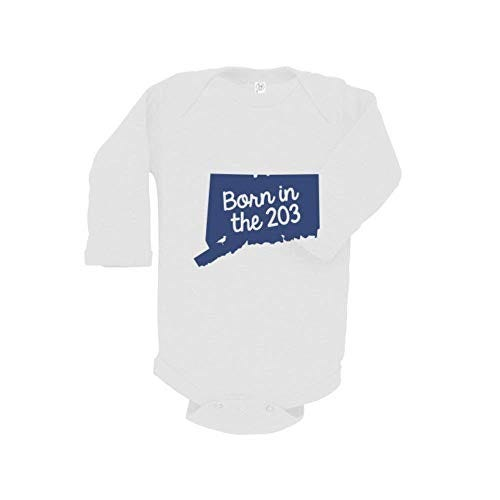 The Two Oh Three | Born in The 203 Long Sleeve Onesie | Navy
