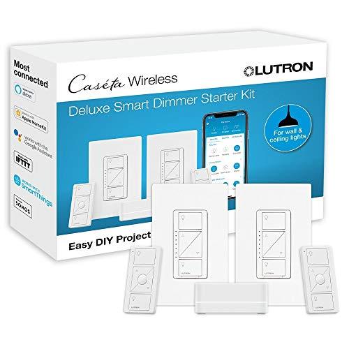 Lutron P-BDG-PKG2W-A Wireless Deluxe Dimmer Bridge Caseta Smart Start Kit