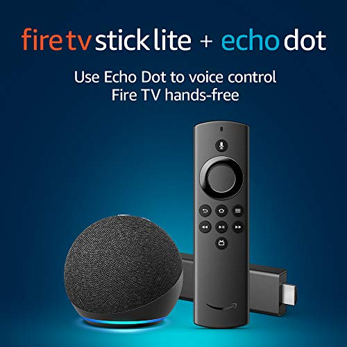 Introducing Fire TV Stick Lite and All-new Echo Dot (Charcoal) bundle