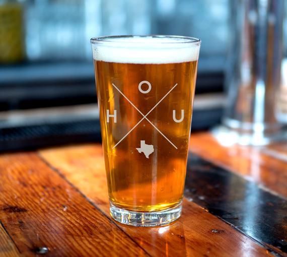 Houston Beer Glass