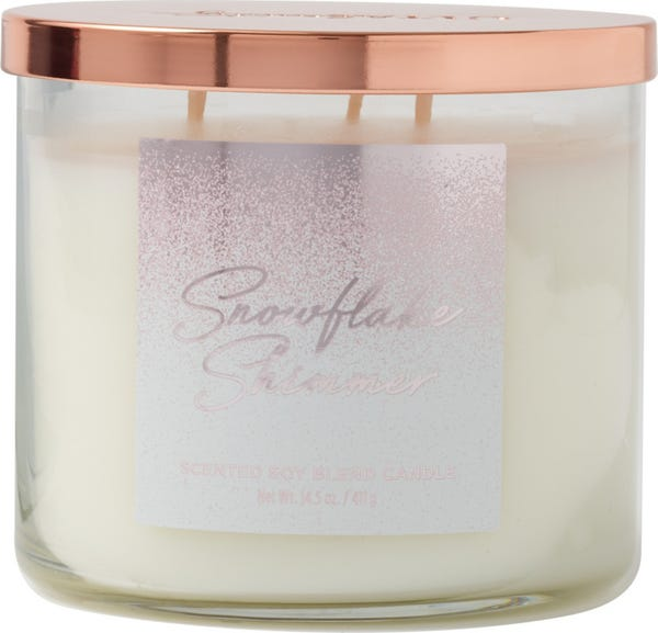 ULTA Snowflake Shimmer Scented Soy Blend Candle