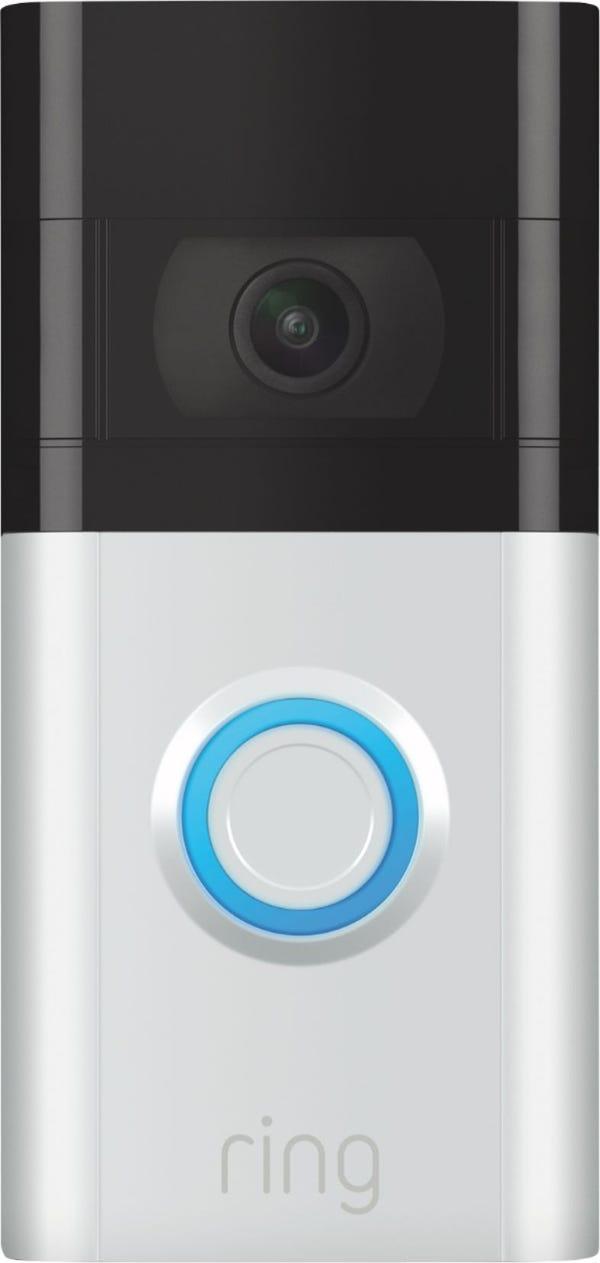 Ring - Video Doorbell 3 - Satin Nickel