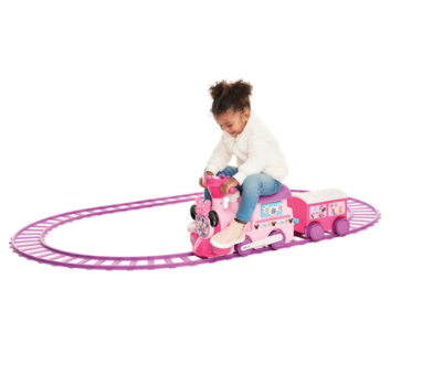 Disney Minnie Mouse 6-Volt Powered Train with Tracks and Caboose