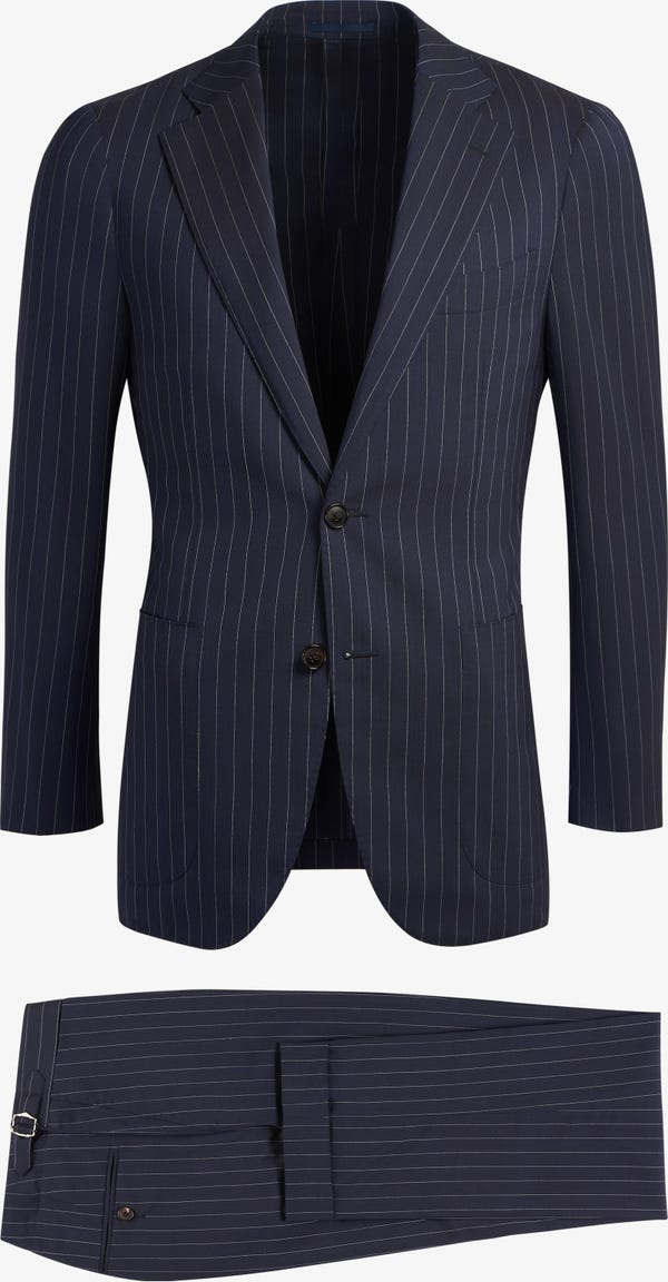 Navy Stripe Jort Suit (Full Canvas)