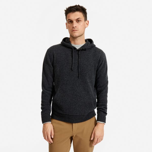 The Felted Merino Hoodie - Charcoal