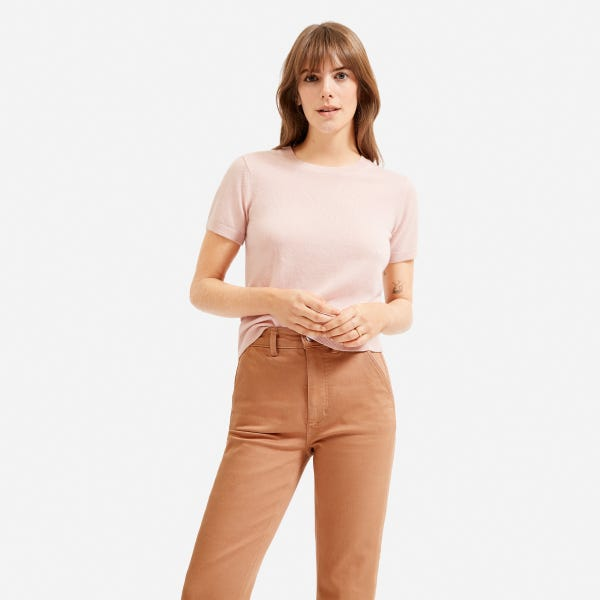 The Cashmere Tee - Rose