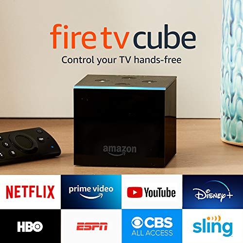 Fire TV Cube, hands-free with Alexa built in, 4K Ultra HD