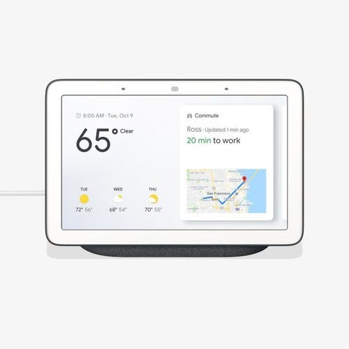 Google Nest Hub Smart Display with Google Assistant - Charcoal