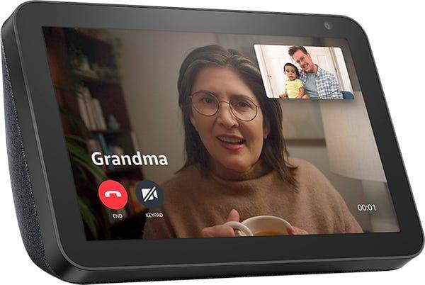 """Amazon - Echo Show 8"""" Smart Display with Alexa - Charcoal"""