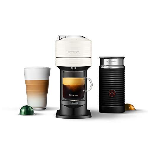 Nespresso ENV120WAE Vertuo Next Coffee and Espresso Maker, Machine + Aeroccino, White