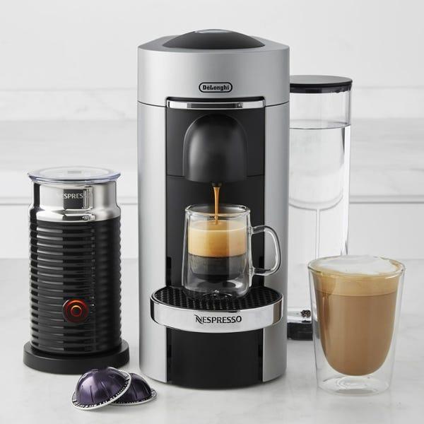 Nespresso VertuoPlus Deluxe Coffee Maker & Espresso Machine by De\'Longhi with Aeroccino